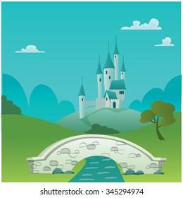 Fantasy Castle - Vector illustration