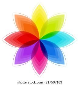fantasy flower in rainbow colors