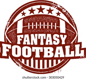 Fantasy Football Sports Stamp