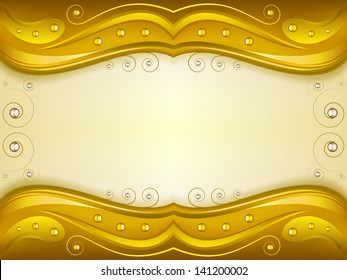 Fantasy golden background