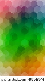 fantasy hexagons on a color banner. vector. ideas for your business, printing, design presentations.