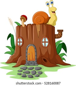 Fantasy house with snail
