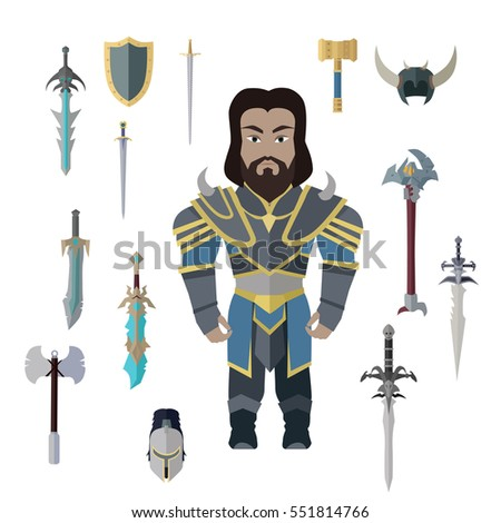 Fantasy knight character with