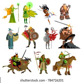 fantasy magical warriors creatures