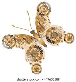 Antik bronce Butterfly Steampunk broche mariposa vintage