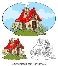 Fantasy Old Cottage