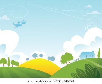 Fantasy rural landscape