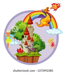 Fantasy scene concept wallpaper illustration