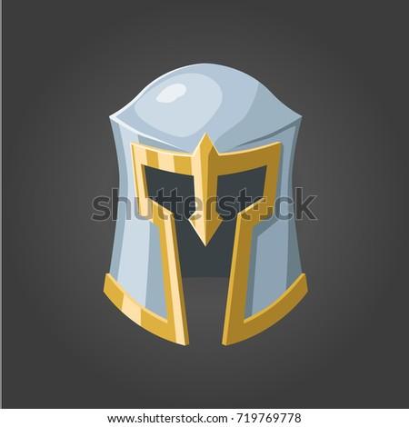 Fantasy Vector Helmet Medieval Steel Helmet Stock Vector Royalty