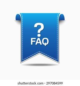 FAQ Blue Vector Icon Design