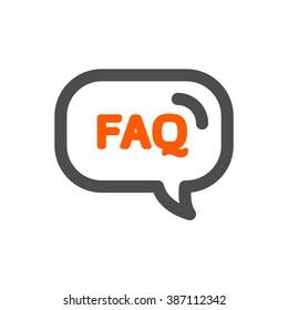 FAQ bubble web vector icon