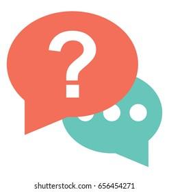 FAQ, Colored Vector Icon