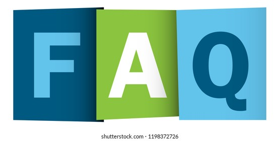 FAQ colorful letters banner