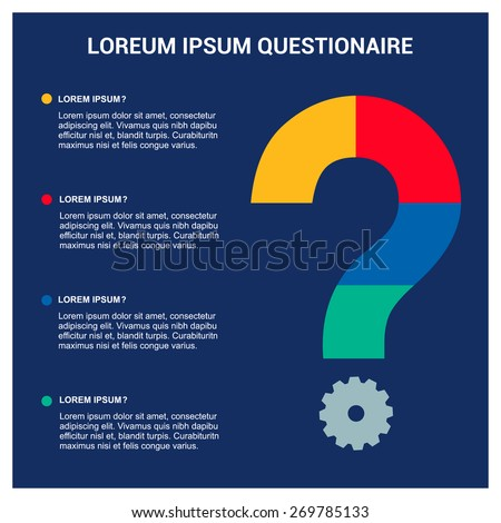 faq frequently asked questions template questionnaire stock vector