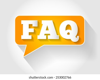 FAQ, question and answer message bubble, business concept