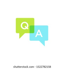 FAQ, questions and answers icon., Q and A speech vector sign, Symbol, logo illustration