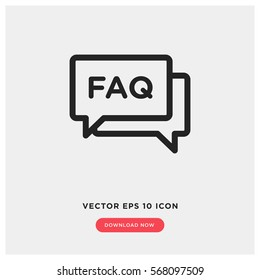 Faq vector icon, help symbol. Modern, simple flat vector illustration for web site or mobile app