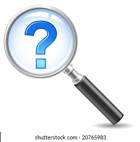 faq-icon - magnifie with a question mark