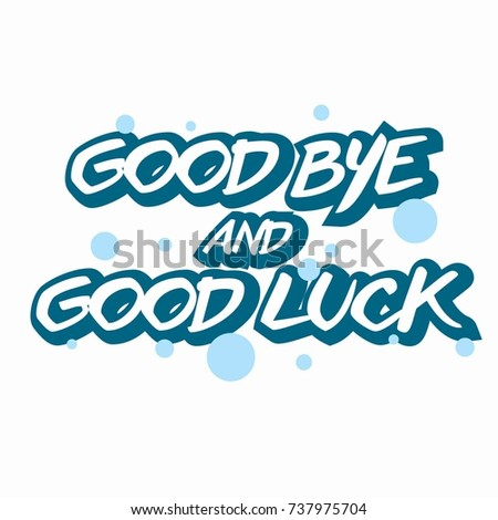 Farewell Card All Best Template Stock Vector Royalty Free