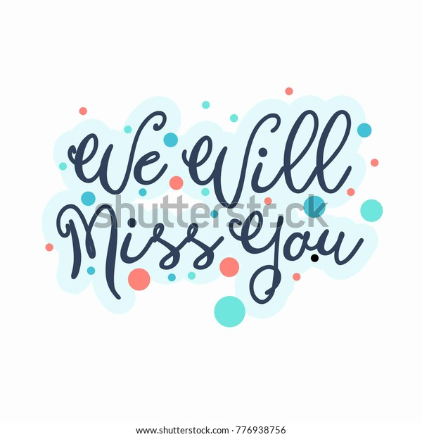 Farewell Card We Will Miss You Stock Vector (Royalty Free ...