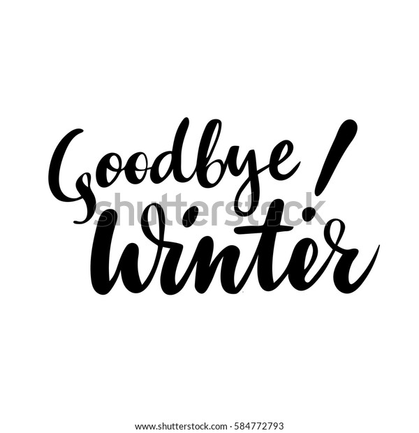 Farewell Greeting Card Phrase Goodbye Winter Stock Vector