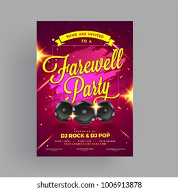 Farewell Party Banner, or Invitation Card Design.