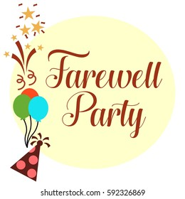 farewell party illustration