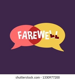 Farewell Party Illustration Background and Poster Card Design