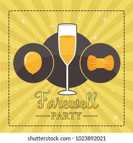 Farewell Party Illustration Design