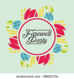 Farewell Party Illustration Design Vector