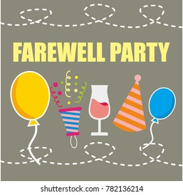 Farewell Party Illustration Vector