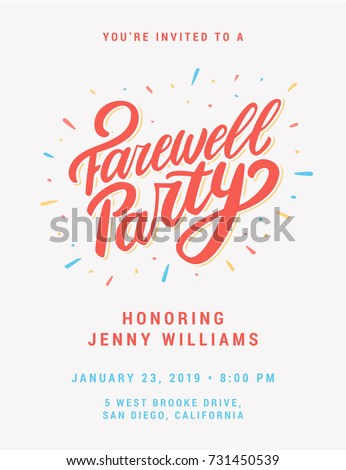 farewell party invitation のベクター画像素材 ロイヤリティフリー