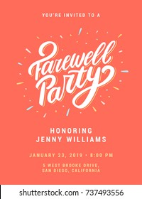 Farewell Party Invitation Template.