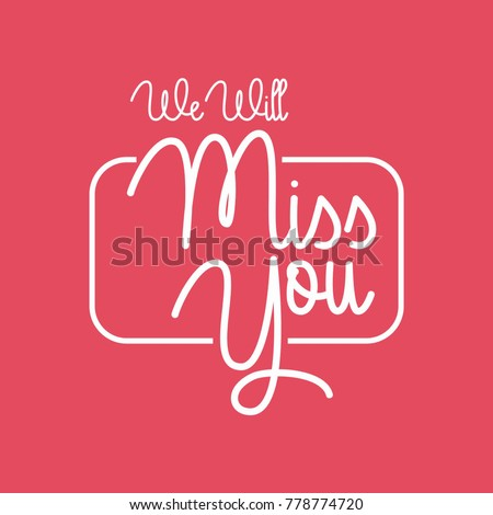 Farewell Party Template We Will Miss Stock Vector Royalty Free