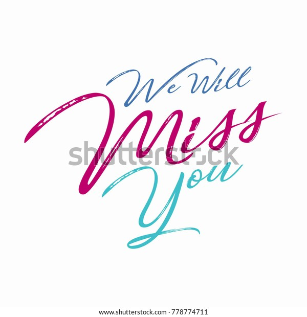 Farewell Party Template We Will Miss Stock Vector Royalty