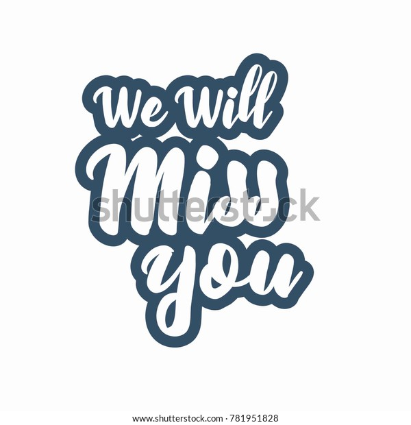 Farewell Party We Will Miss You Stock Image Download Now