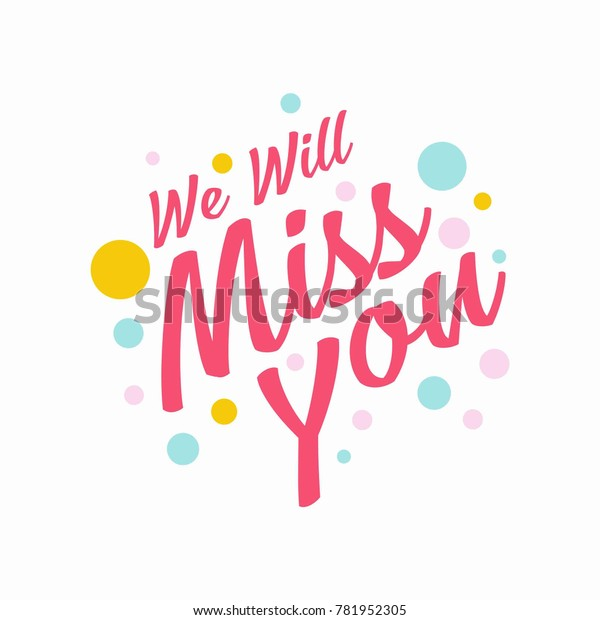 Farewell Party We Will Miss You Stock Vector Royalty Free