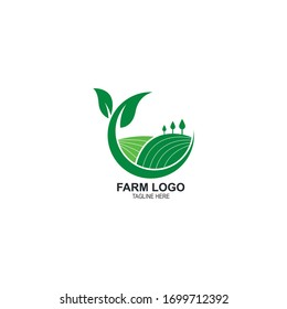 farm agriculture logo vector icon template design