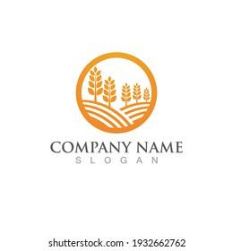 Farm agriculture organic logo  icon illustration