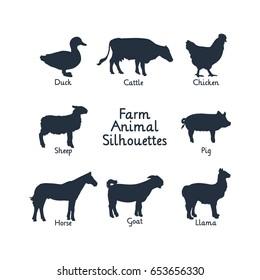 Farm Animal Vector Collection