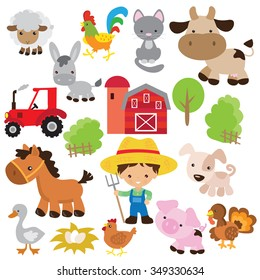 Farm animal vector illustration