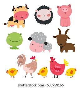 Farm animals character design