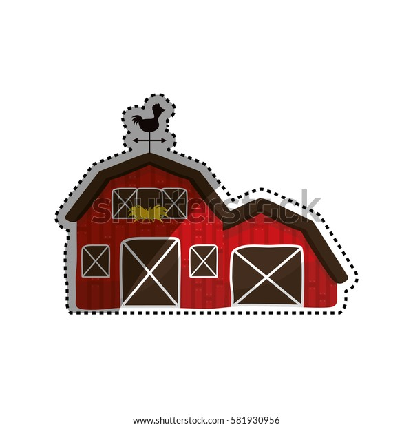 Farm barn building icon icon vector illustration graphic design