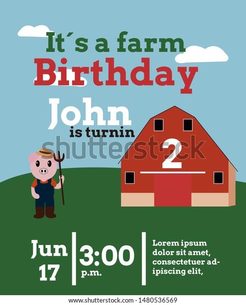 unique farm birthday invitation for 33 farm birthday invitations free