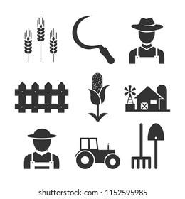 Farm Black Icons