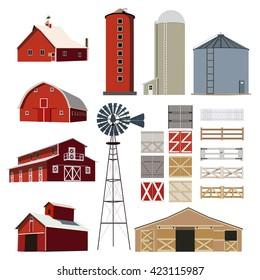 Farm Building vector set