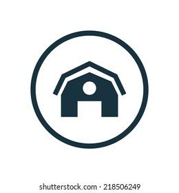 farm circle background icon, isolated on white background