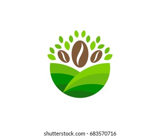 Farm Coffee Icon Logo Design Element