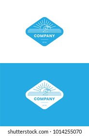 Farm company logo template.