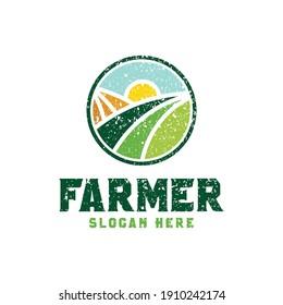 Farm concept logo, Farm logo vector template and farm logo design inspiration